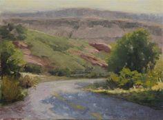 """Daily Paintworks - """"Ken Caryl Morning"""" - Original Fine Art for Sale - © SheilaMarie Littlehorn"""