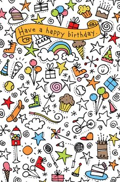 Simple Doodle Ideas | Birthday doodle design for American Greetings