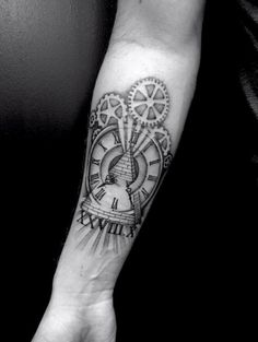 Roman numeral forearm work by Body Rock