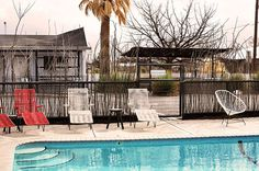 vacation plan package and/or guides - poolside in marfa texas Alpine Texas, Marfa Texas, Hotel Motel, Blog Deco, Travel Alone, Cool Pools, Wonderful Places, Places To Visit, Lets Go