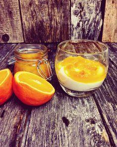 Low Carb - Schnelle Creme aus Kaymak und Quark, dazu Karamell-Orangen