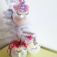 Unicorns everywhere! Adorn your tree with these majestic cuties