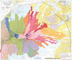 Beautiful Destruction: 11 Gorgeous Geological Maps of Volcanoes