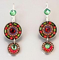 Fashion Artistic Jewelry Earrings multicolor by Bluenoemi on Etsy, $56.00
