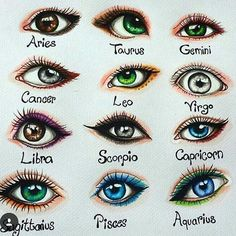 """Laura Mary """"I drew the signs as eyes Double tap yours and comment if your eye is like your sign❤Hope you like it☺"""" 2020 homme ideal ideal sternzeichen verseau vierge zodiaque Zodiac Signs Chart, Zodiac Signs Sagittarius, Zodiac Sign Traits, Zodiac Star Signs, Astrology Zodiac, Taurus, Astrology Numerology, Numerology Chart, Cancer Zodiac Art"""
