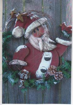 WOOD CRAFT CHRISTMAS SANTA    PATTERN    #WC   316