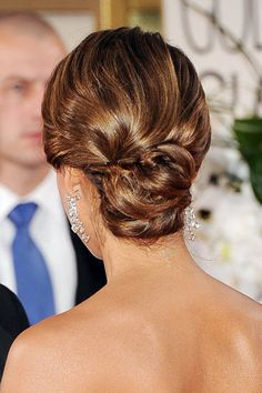 Wedding Hairstyles: Up 'dos: The back of Jessica Alba 2012 Golden Globes up 'do.