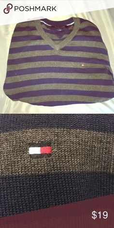 Tommy Hilfiger men's large sweater Great condition. Tommy Hilfiger Sweaters V-Neck