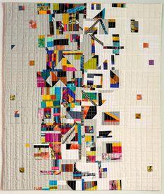 "Sara Kelly Art Quilts: ""La Frontera"" x and ""Meltdown"" x - Quilting - # Strip Quilts, Scrappy Quilts, Patchwork Quilting, Quilting Projects, Quilting Designs, Quilting Templates, Crumb Quilt, Landscape Art Quilts, International Quilt Festival"