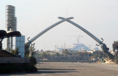 Arc de Triomphe - Square celebrations in Baghdad قوس النصر