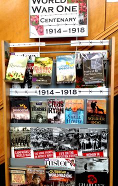 World War I display. Barbed wire fences with timeline?