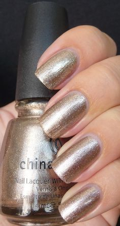 China Glaze Swing Baby | cool tone taupe metallic, the only nail polish I own from the brand!! My collection is basically all Essie nail polish.