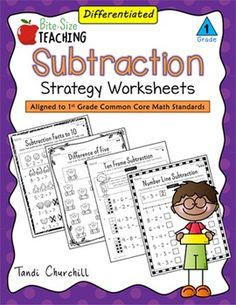 What are They?These differentiated 1st Grade Subtraction Strategy Worksheets provide young mathematicians with a toolbox of strategies to solve one and two-step subtraction problems. Each subtraction worksheet is aligned to 1st Grade Common Core Math Standards and differentiated into 3 levels to match the needs of the individual learner to his or her current level of understanding.