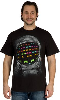 Astronaut Space Invaders Shirt