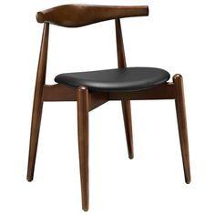Stalwart Modern Walnut Dining Chair