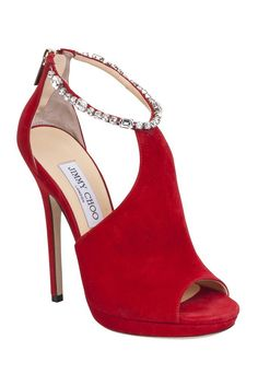 red shoes by Jimmy Choo Pre-Fall 2013 Hot Shoes, Crazy Shoes, Me Too Shoes, Jimmy Choo, Pretty Shoes, Beautiful Shoes, Zapatos Shoes, Shoes Heels, Red Heels