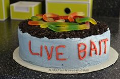 Live Bait Fisherman cake ~ easy to make! Fisherman Cake, Fish Cake Birthday, 3rd Birthday, Happy Birthday, Cakes For Men, Cake Smash, Party Cakes, How To Make Cake, Have Time