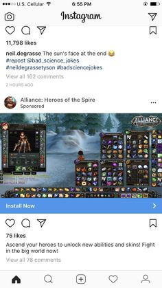 Mobile game using a WOW screenshot. #worldofwarcraft #blizzard #Hearthstone #wow #Warcraft #BlizzardCS #gaming