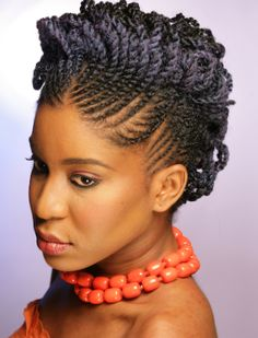 natural hairstyles for black women flat twist two strand twist updo natural hair side – thirstyroots.com: Black Hairstyles and Hair Care
