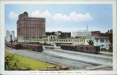 Postcard 5330: Photogelatine Engraving Co, Palliser Hotel and C.P.R. Station, Calgary, Alberta ([ca. 1944])