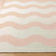 Harmonic Wave Dhurrie Rug shell_pink_cream
