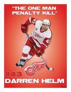 Detroit Red Wing #43, Darren Helm. Helm is so fun to watch
