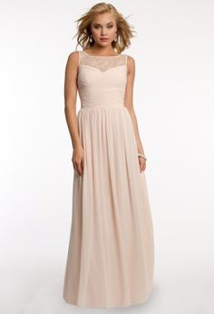 chiffon dress with lace yoke from camille la vie and group usa an idea as