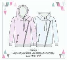 Ebook Sarooja - sweat jacket for women size. Pdf Sewing Patterns, Free Sewing, Sewing Blouses, Sewing Pants, Diy Tops, Fabric Stamping, Jackets For Women, Clothes For Women, Diy Clothing