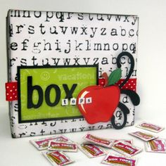 box tops recycle container - Love the look.  Use for my BT mailbox.