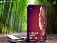 Tribute to Nelson Mandela  Quote Make it Possible by SidePucket, $14.89