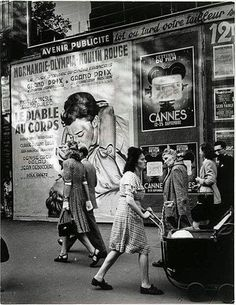 1947 Photo of Cannes Posters, Brassaï, Grands Boulevards #vintageposters @Rue Mapp Mapp Marcellin www.ruemarcellin.com #UpscaleYourWalls