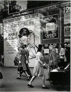 1947 Photo of Cannes Posters, Brassaï, Grands Boulevards #vintageposters @Rue Mapp Mapp Marcellin www.ruemarcellin.com #UpscaleYourWalls
