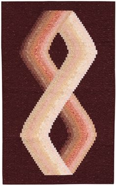 """Möbius"" from the book More Twist-and-Turn Bargello Quilts by Eileen Wright"
