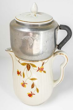 Halls Superior Autumn Leaf Jewel Tea Coffee Pot with by dappr, $50.00