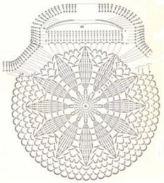 crochet circular bag front/back pattern/chartLittle crochet purse diagram. No PIC of finished item. Job Tatiana knitting and knitting patterns The place where construction meets design, beaded crochet is the act of using beads to embellish crocheted Crochet Shell Stitch, Bead Crochet, Crochet Motif, Crochet Doilies, Crochet Stitches, Flower Crochet, Crochet Round, Crochet Purse Patterns, Crochet Clutch