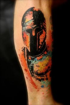 Tattoos by Pascal Scaillet Sky - Inked Magazine Creative Tattoos, Unique Tattoos, Beautiful Tattoos, Cool Tattoos, Colorful Tattoos, Gladiator Tattoo, Gladiator Helmet, Sky Tattoos, Kunst Tattoos