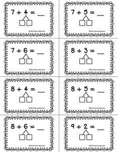 Make a Ten Strategy plastificeren en dan met marker oefenen Addition Strategies, Math Strategies, Math Resources, Math Activities, Math Classroom, Kindergarten Math, Teaching Math, Eureka Math, Singapore Math