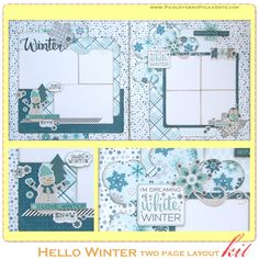 Hello Winter Two Page Layout