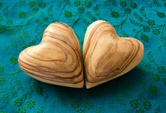 Wood Hearts   @FairMail - Fair Trade Cards - Valentine's Day Cards - FDP6022A   Love, Marriage, Mother's Day, Blue