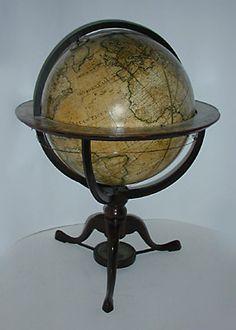 32 inch globe   ... - Antique Globes - Dudley Adams 18-Inch Terrestrial Low Floor Globe