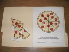 This would be fun with a pizza and toppings cut out that you add! Could add a number spinner, spin it and add as many toppings as the number it lands on?