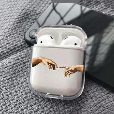 Cover AirPods The Creation Of Adam Case Art Hands AirPods case Covers For Apple AirPods Clear Case michelangelo hands case Shock Proof Air Pod Holder case Cute Phone Cases, Iphone Phone Cases, Cute Cases, Fone Apple, The Creation Of Adam, Accessoires Iphone, Aesthetic Phone Case, Air Pods, Airpod Case