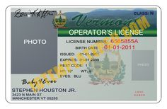 This is Vermont (USA State) Drivers License PSD (Photoshop) Template. On this PSD Template you can put any Name, Address, License No. DOB etc and make your personalized Driver License.  You can also print this Vermont (USA State) Drivers License from a professional plastic ID Card Printer and use as per your requirement