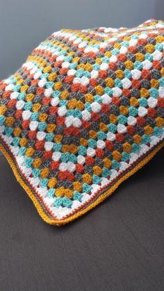Granny Square Baby Blanket Toddler Blanket Fabric by ShelleRobert, $75.00