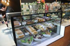 food, cafe, display
