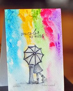 sweet card using gelatos // design memory craft