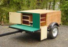Compact Camping Trailer Explorer Box build at home finish and doors Camping Box, Kayak Camping, Winter Camping, Camping World, Camping Hacks, Camping Hammock, Camping Stuff, Box Trailer, Trailer Build