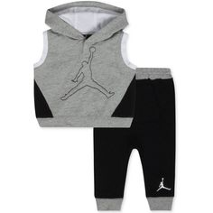 Jordan Baby Boys' 2-Piece Sleeveless Hoodie & Pants Set - Baby Boy... ❤ liked on Polyvore featuring baby