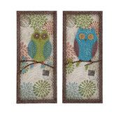 Found it at Wayfair - 2 Piece Austere Customary Owl Plaque Set