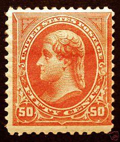 #260 50c Orange 1894 Type I *Mint* Hinged Crisp CV $500+ – #rarestamp #sale visit LittleArtTreasures.com